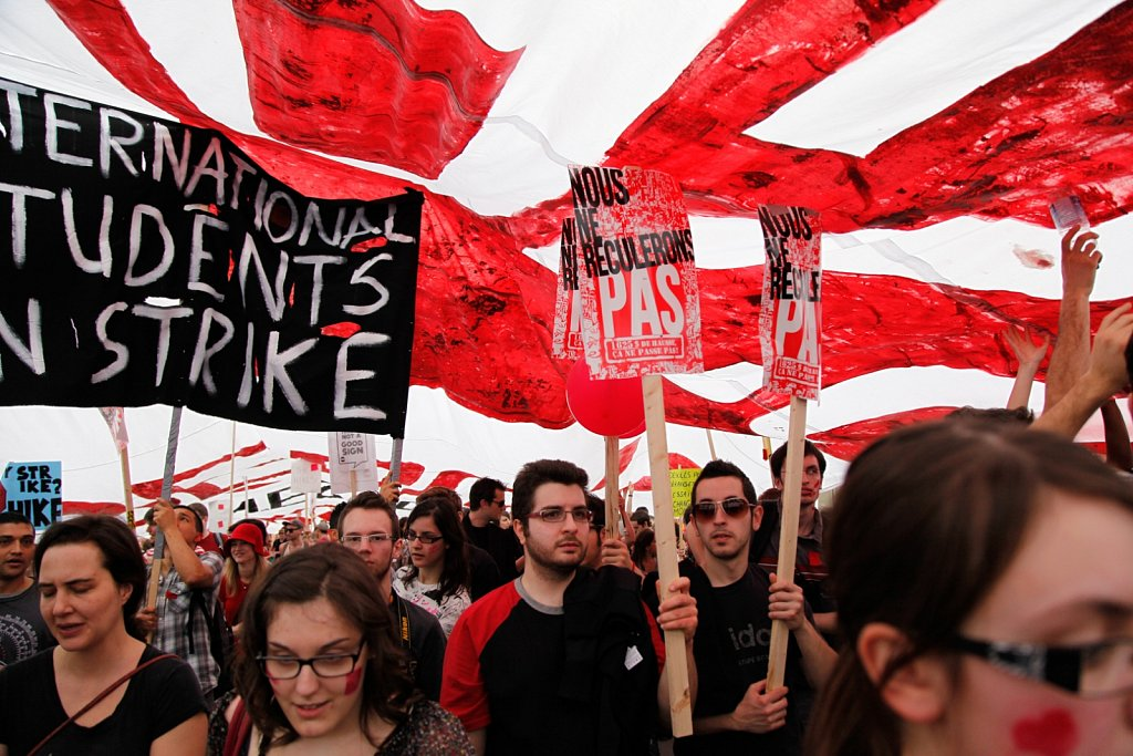 Protests against tuition fee increases