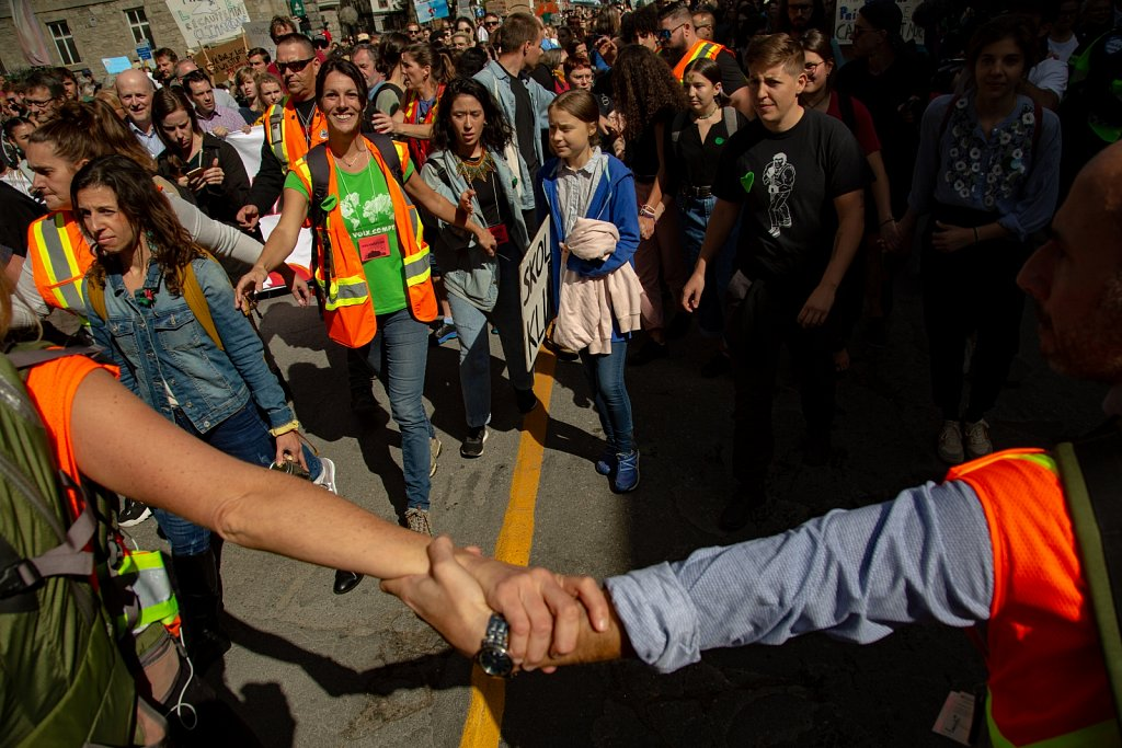 Montreal: Greta Thunberg joins the Montreal climate change prote